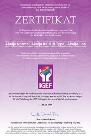 IGEF Zertifikat